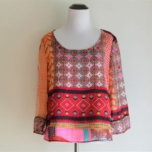 Patrons of Peace Boho Printed Top